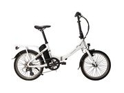 RALEIGH Stow-E-Way Folding Bike Electric  White  click to zoom image