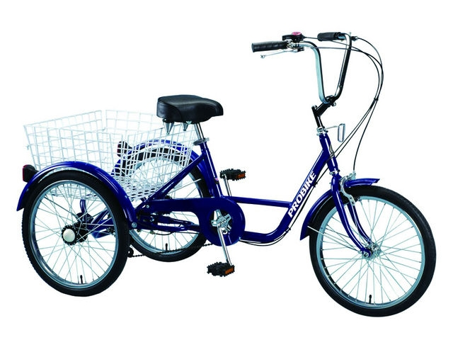"PROBIKE Adults Trike Blue 24"" click to zoom image"