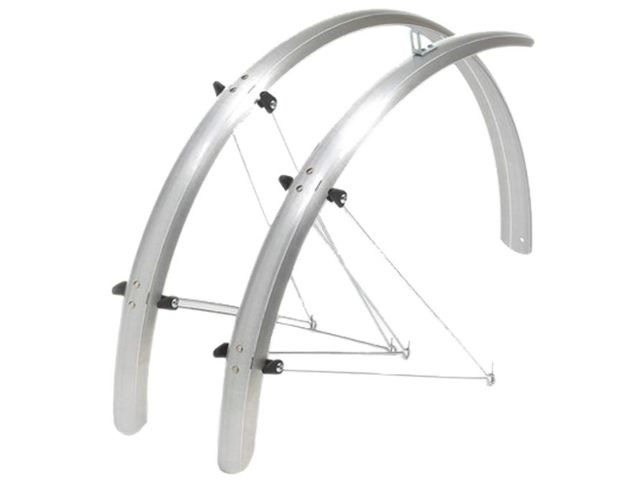 OXFORD 700c/27'' Std Wide 41mm Mudguards Black /Silver click to zoom image