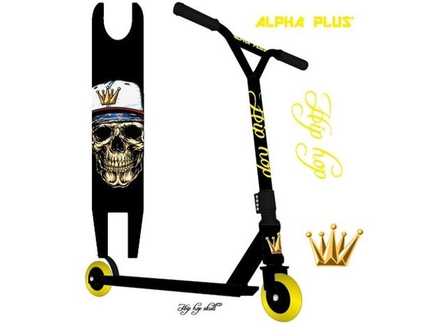 ALPHA PLUS HIP HOP SKULL scooter click to zoom image
