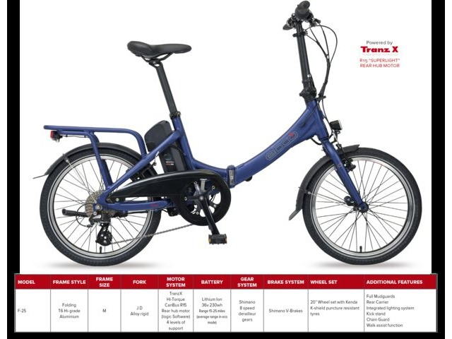 EBCO F-25 FOLDING E-BIKE click to zoom image